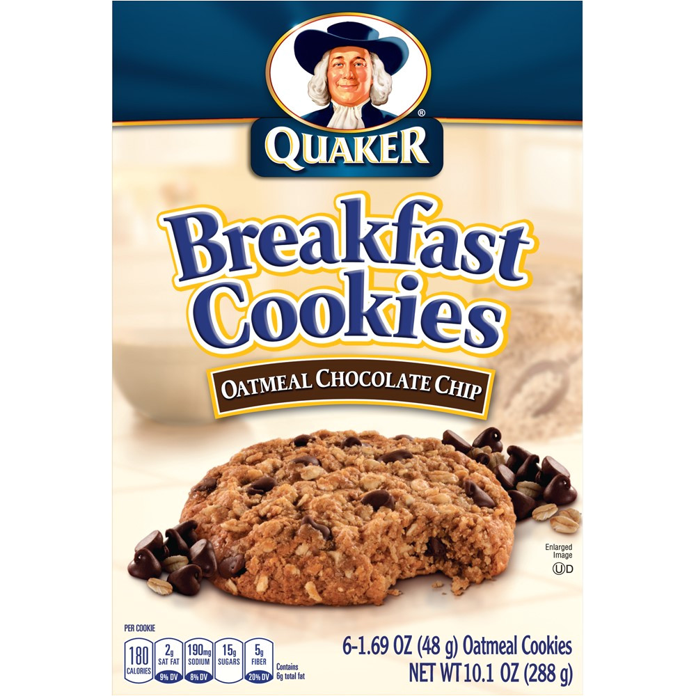Cookie Delivery In College Station Quaker Breakfast Cookies Oatmeal Chocolate Chip 6 Ct Walmart Com