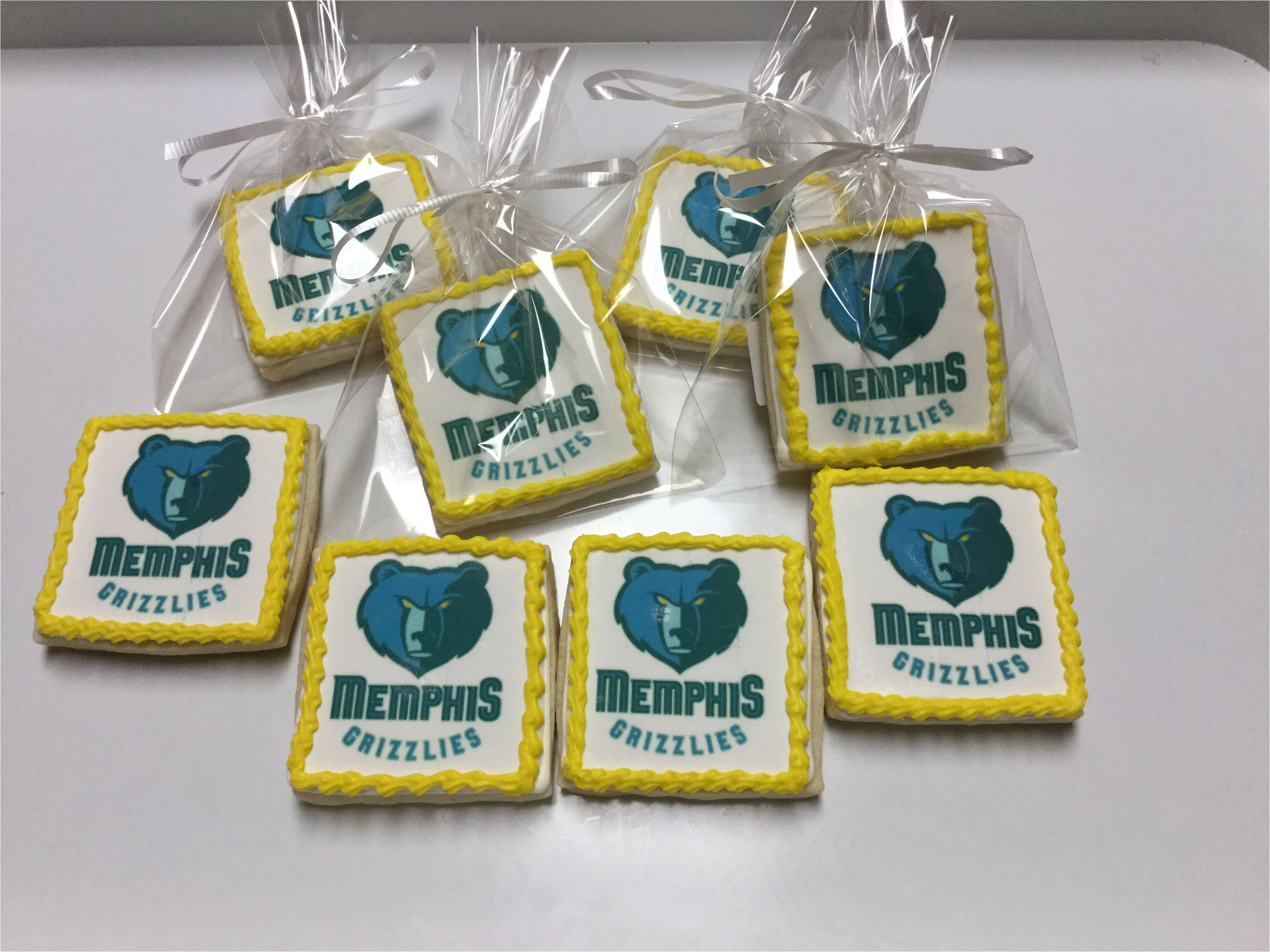 memphis grizzlies decorated sugar cookies
