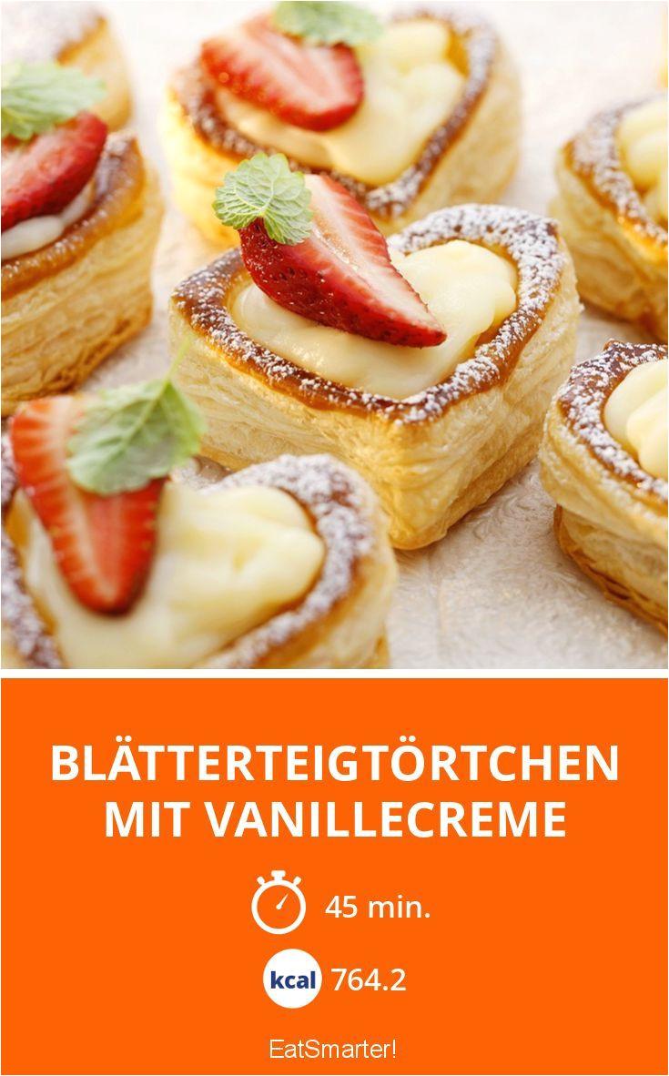 blatterteigtortchen mit vanillecreme smarter kalorien 764 2 kcal zeit 45 min