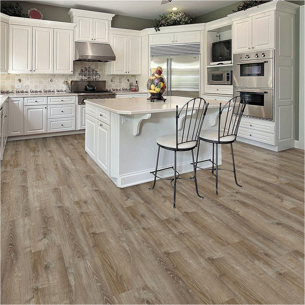 smoked oak almond luxury vinyl plank flooring 20 06 sq ft case i966101 the home depot