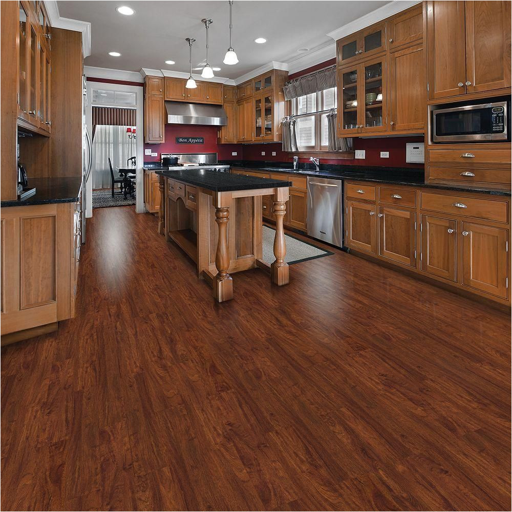 cherry resilient vinyl plank flooring 24 sq ft case 12012 at the home depot