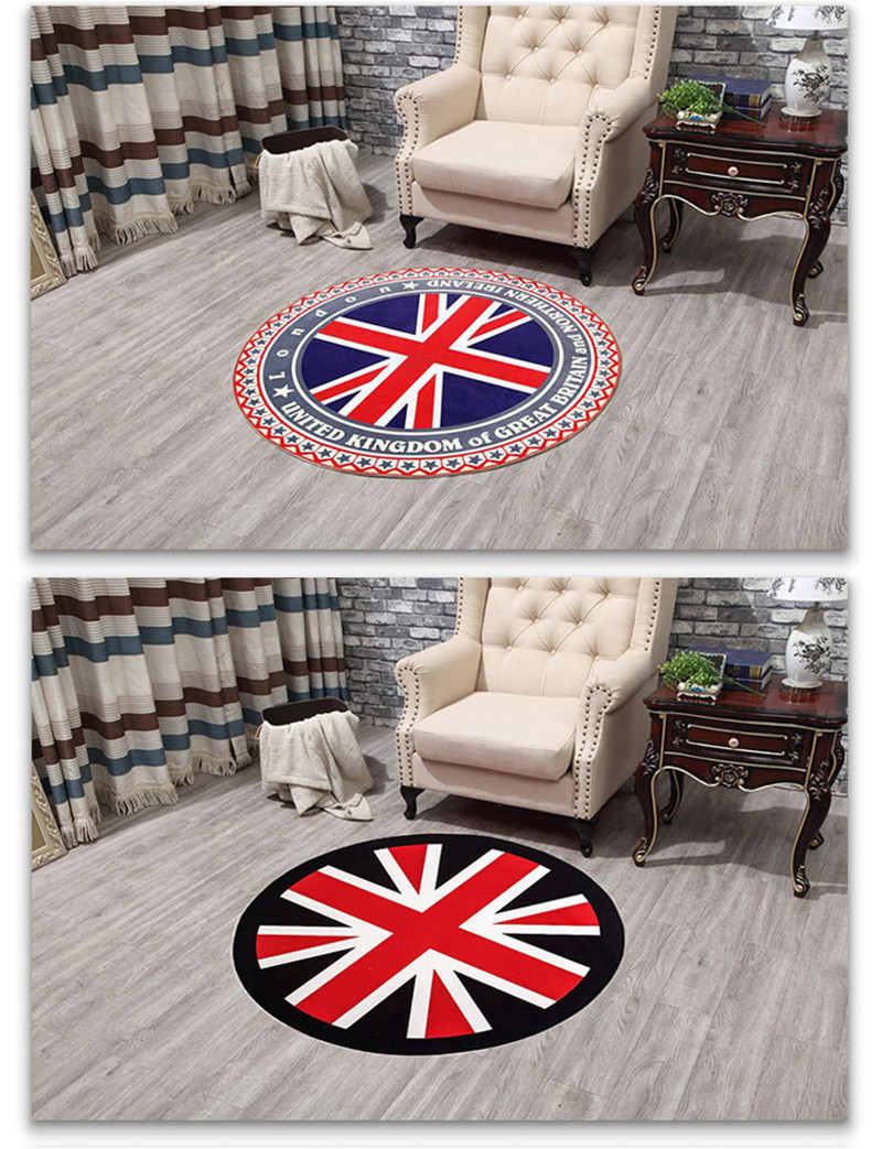 flag round rugs living room doormat round cartoon carpets door floor mat bedroom anti slip tapete round rug diameter 60cm 80cm us534