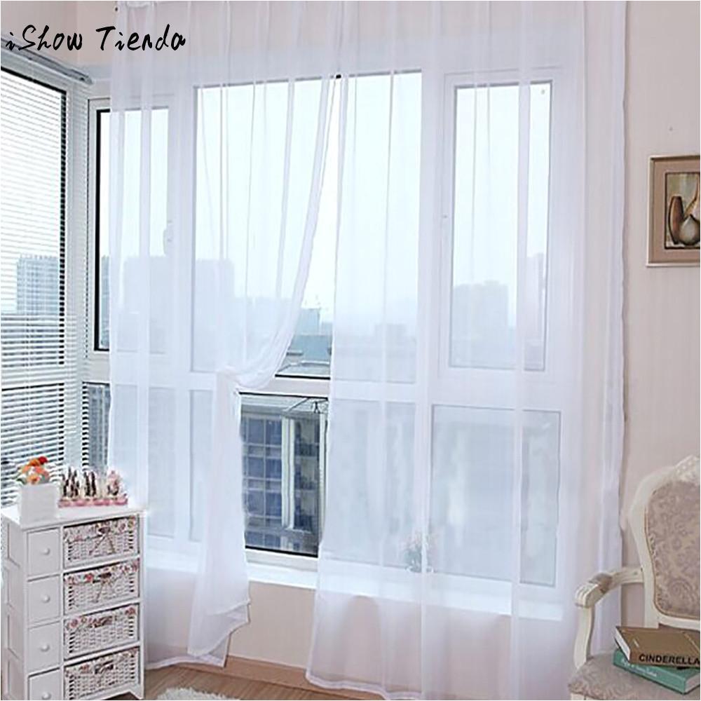 compre cortinas modernas para sala de estar cortinas pure color tulle cortina da janela da porta painel drape sheer scarf valances 200x100 cm de hopestar168
