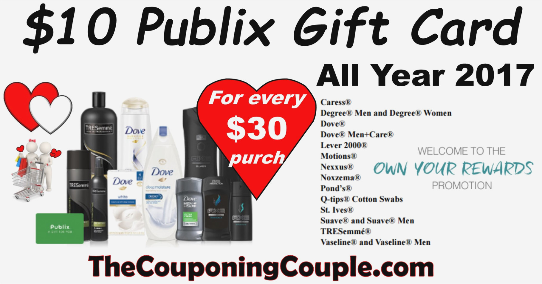 earn gift cards with publix own your rewards all year