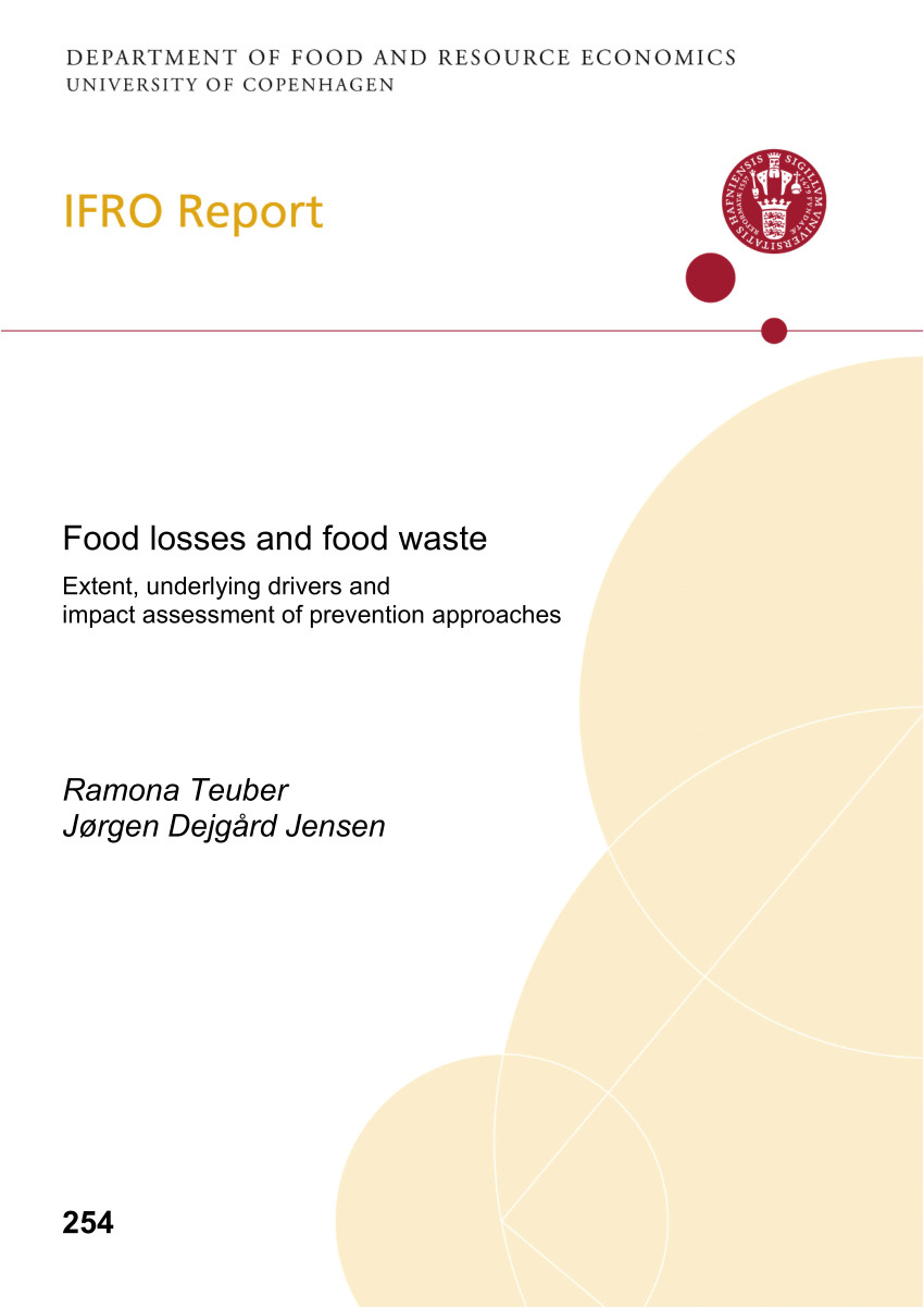 pdf standard approach on quantitative techniques to be used to estimate food waste levels