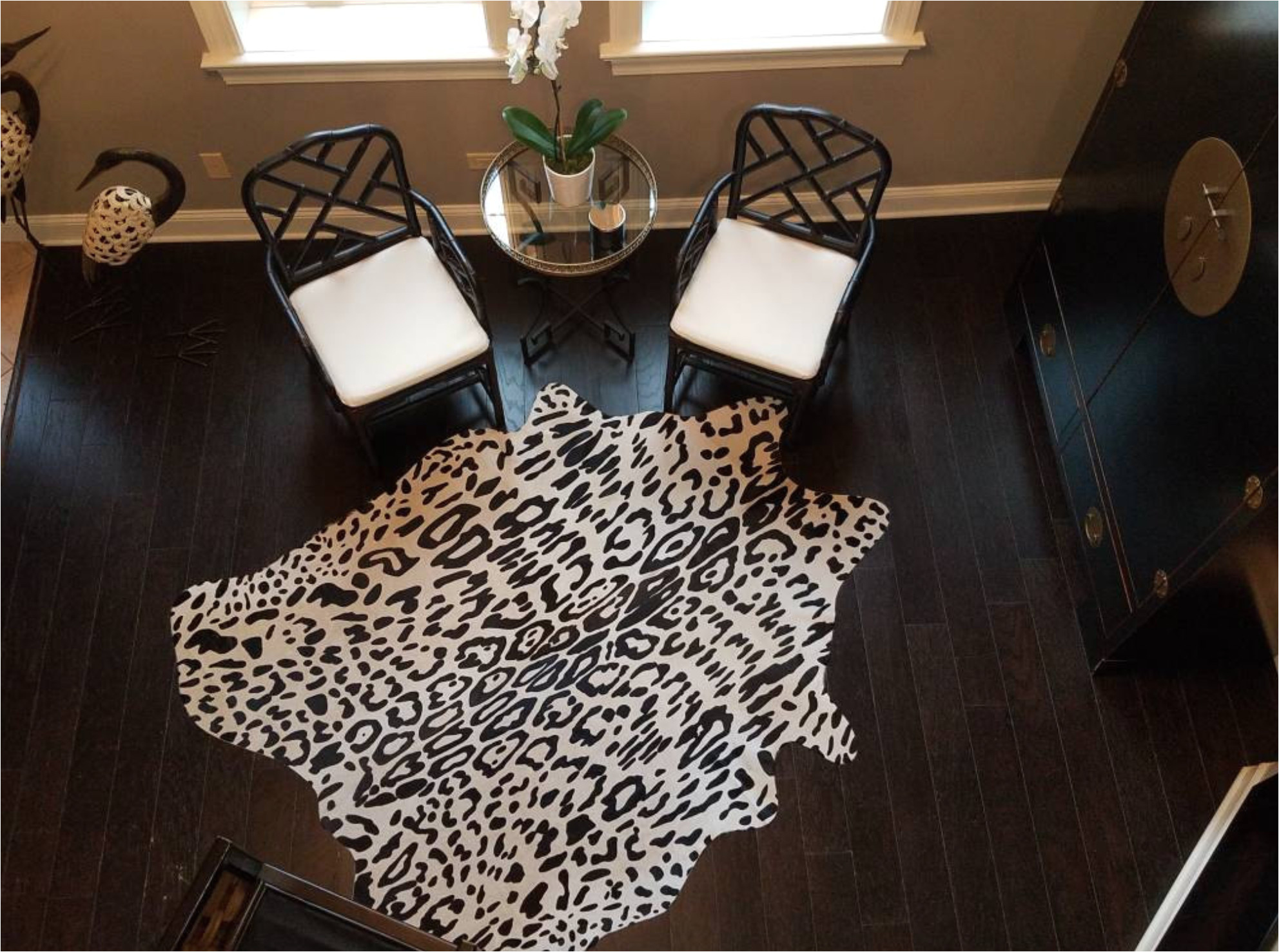 jaguar print cowhide another happy customer sharing photos with cowhidesusa