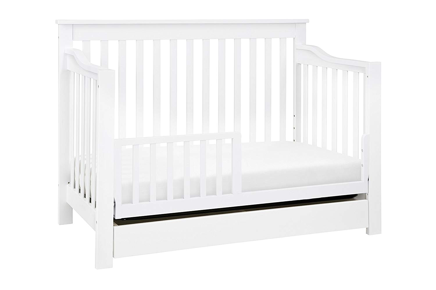 amazon com davinci piedmont 4 in 1 convertible crib with toddler bed conversion kit white baby