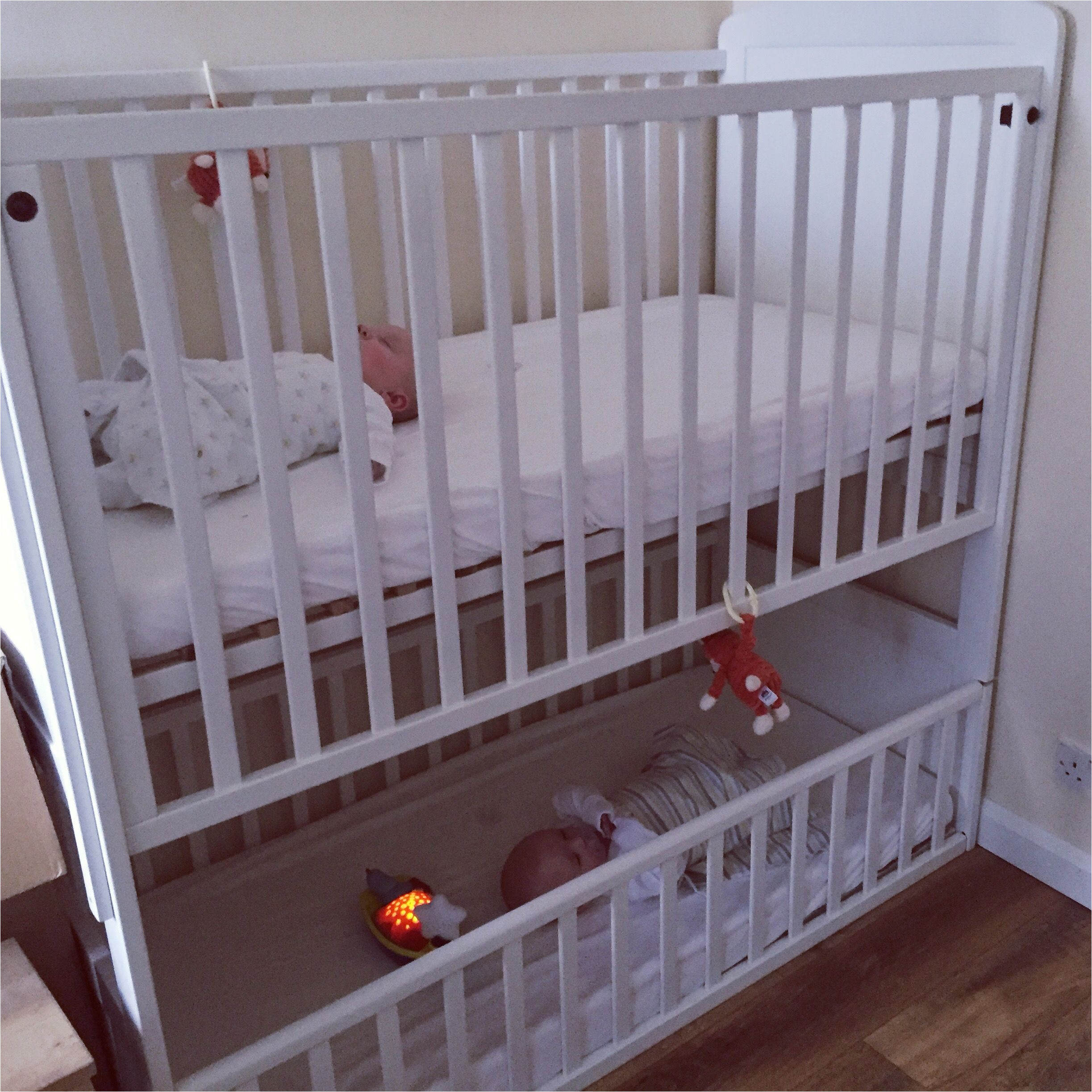 a bunk cot for twins or siblings close in age perfect if you are looking for space saving equipment
