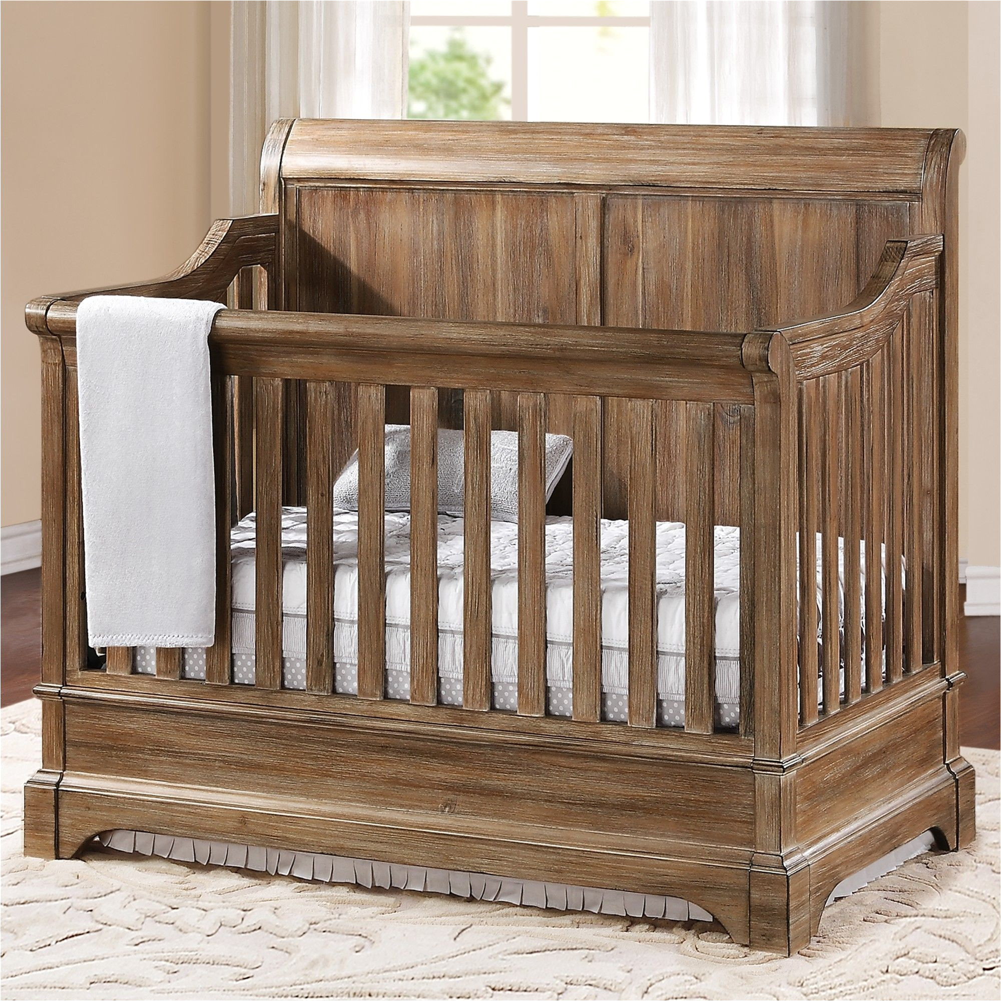 amusing rustic baby cribs amazing rustic baby convertible cribs with wood material and window treatment plus bedding sets
