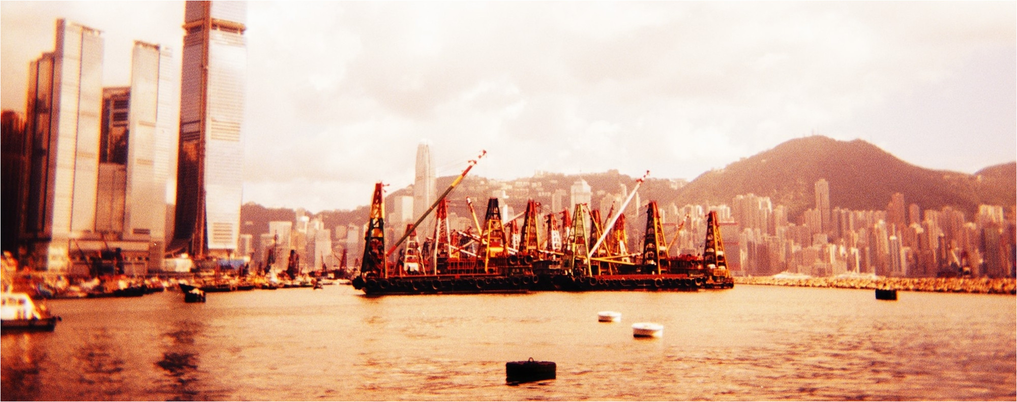 victoria harbour shot using a holga camera picture justin lim