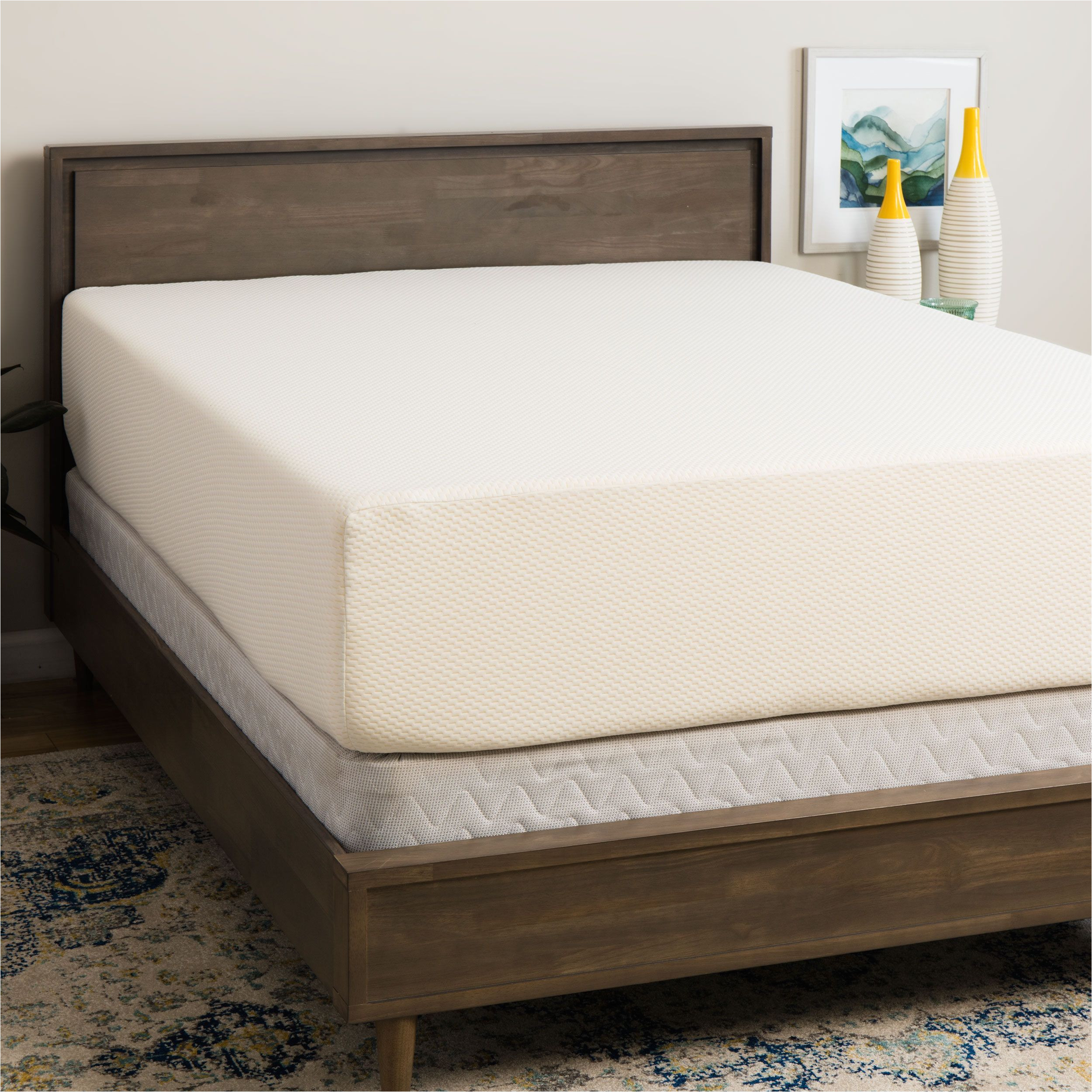 select luxury medium firm 14 inch king size memory foam mattress and foundation set select luxury medium firm 14 inch king size set blue waterfall