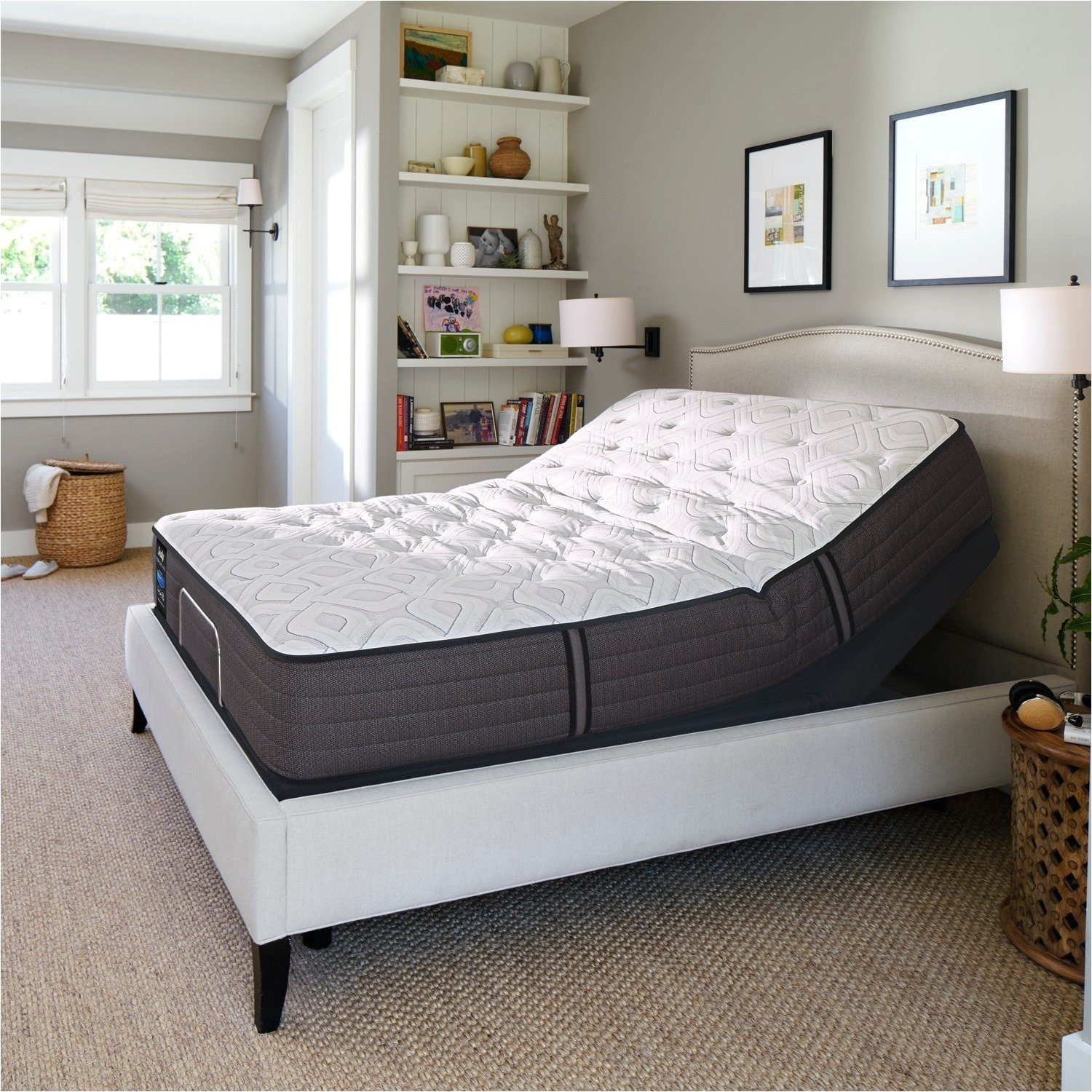 shop sealy response performance 12 5 inch cushion firm california king size gel memory foam ease adjustable mattress set free shipping today