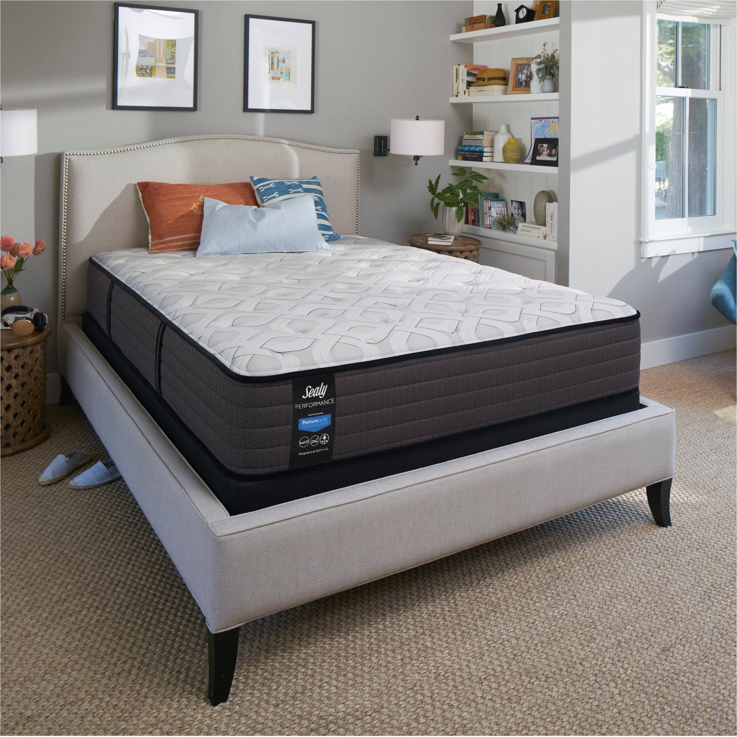 sealy response performance 11 inch cushion firm twin xl size mattress set free shipping today overstock 22931180