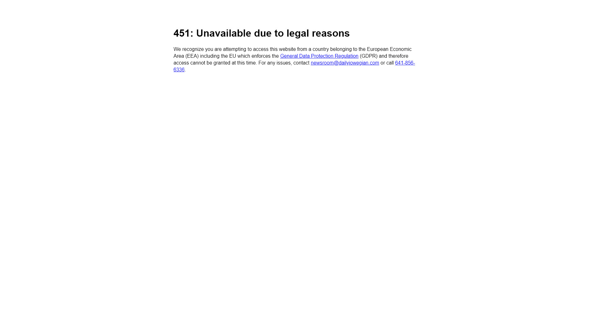 websites not available in the european union after gdpr