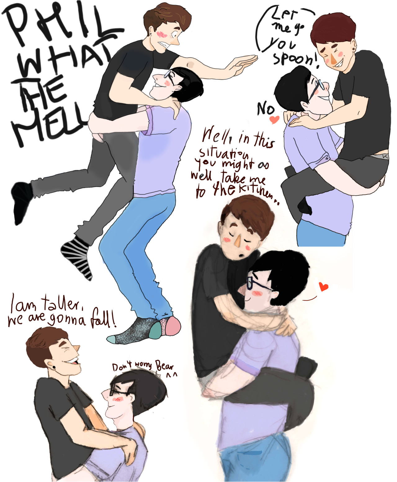 dan and phil phan art google search