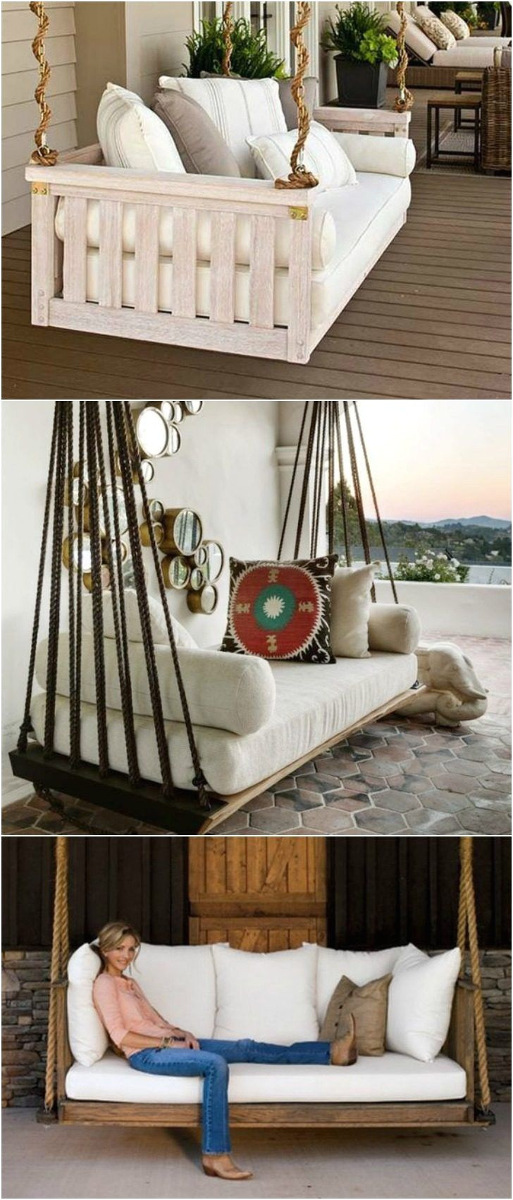 7 diy outdoor swings that ll make warm nights even better 6 is just stunning patiooutdoorfurniture best diy outdoor pallet recycled swing top