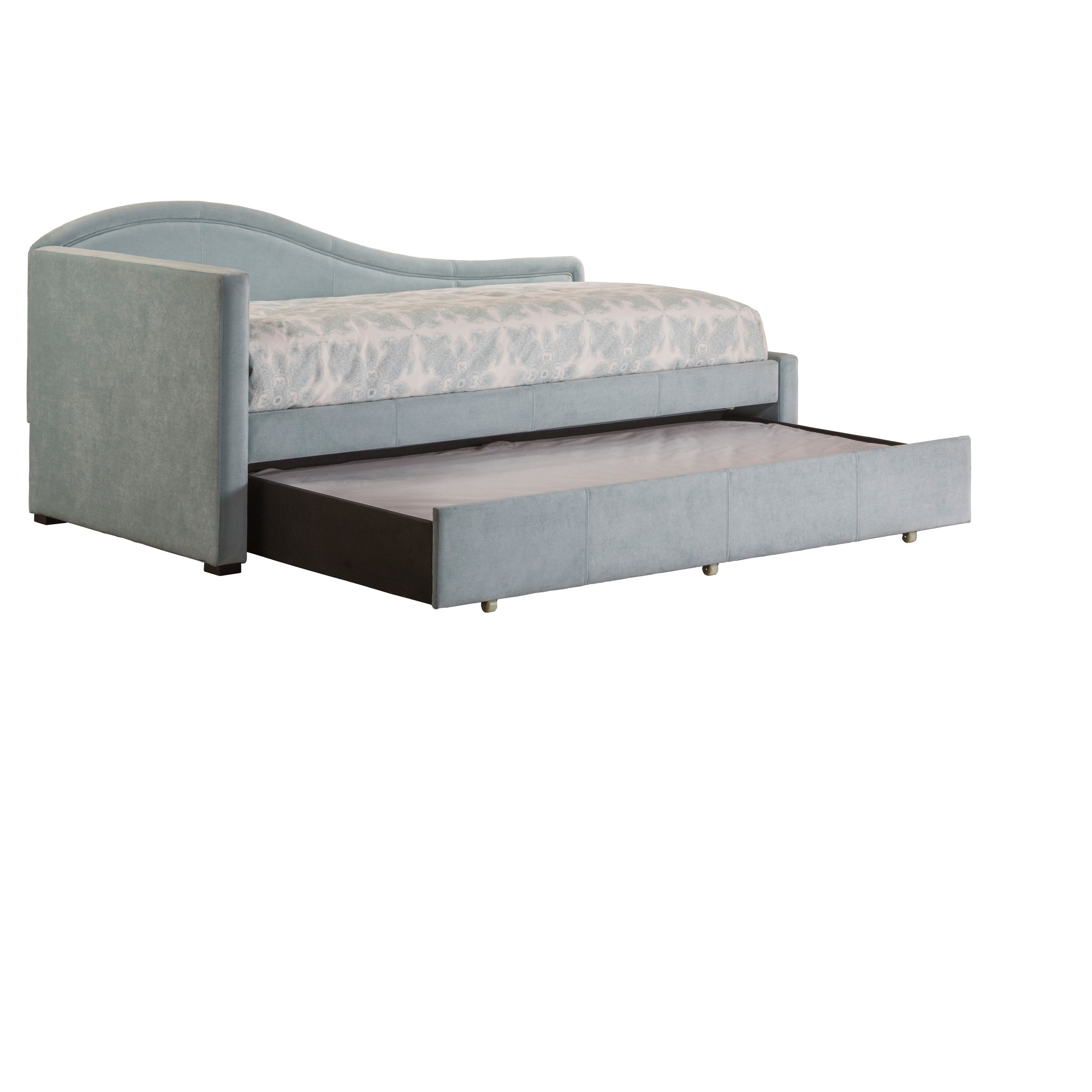 olivia daybed with trundle twin aqua blue hillsdale furniture light gray nep