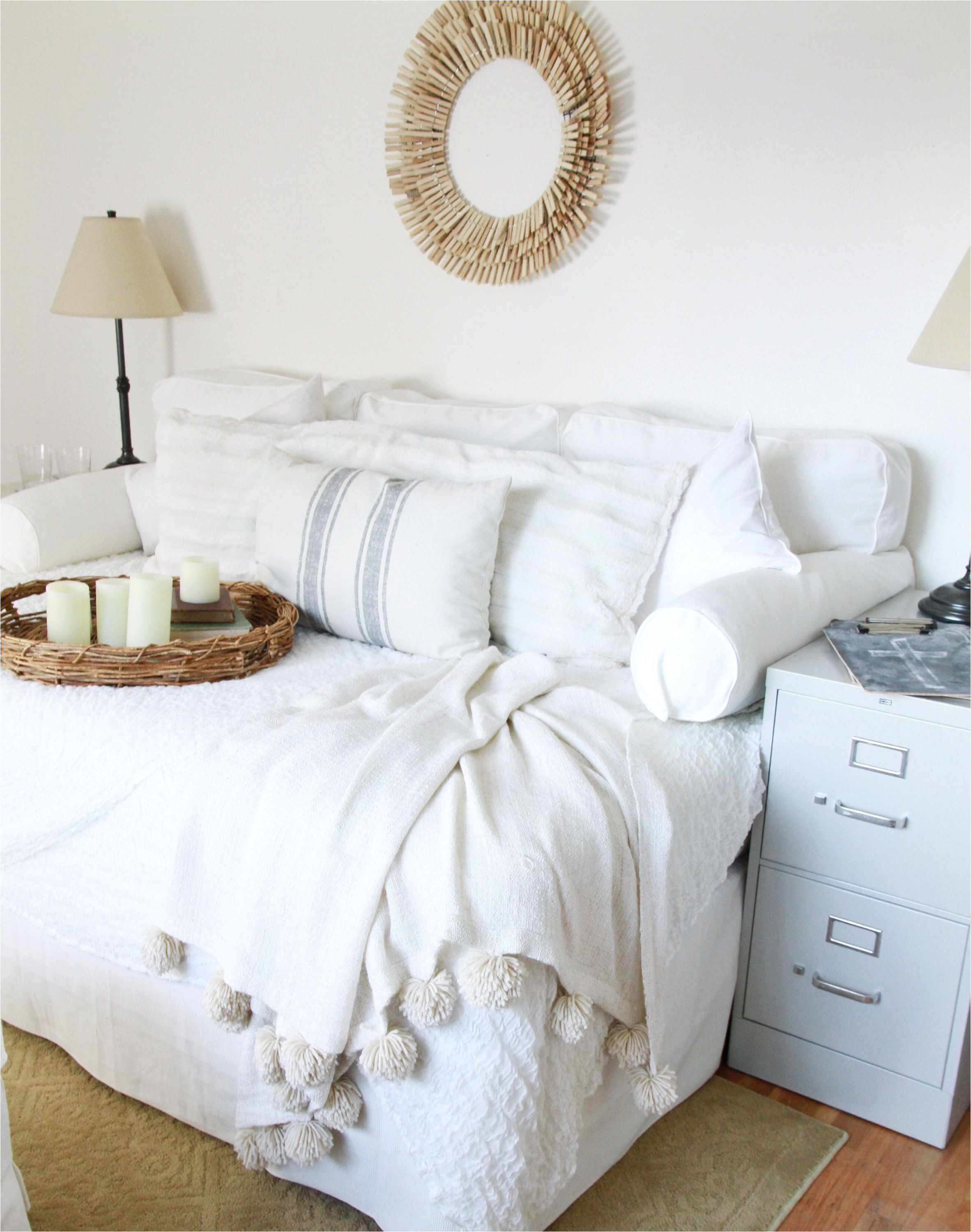 it is actually a full sized bed turned sideways and converted into a multi purpose piece