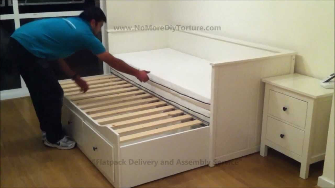 Daybed that Converts to Queen Ikea Hemnes Day Trundle Bed with 3 Drawers White No Place Like