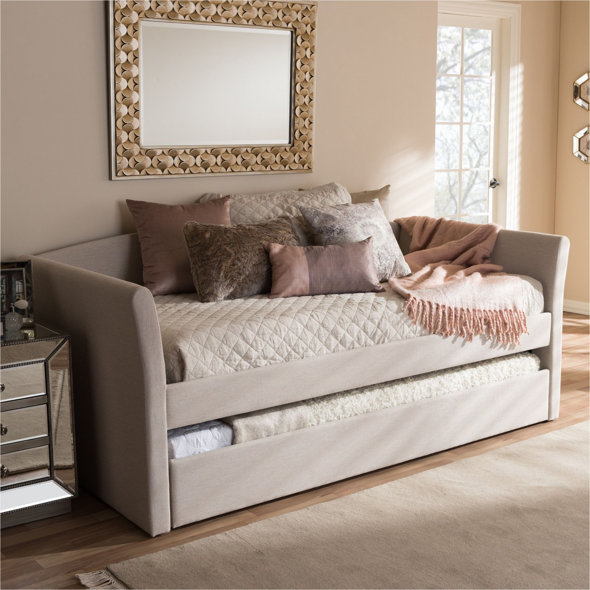 baxton studio serena daybed with trundle