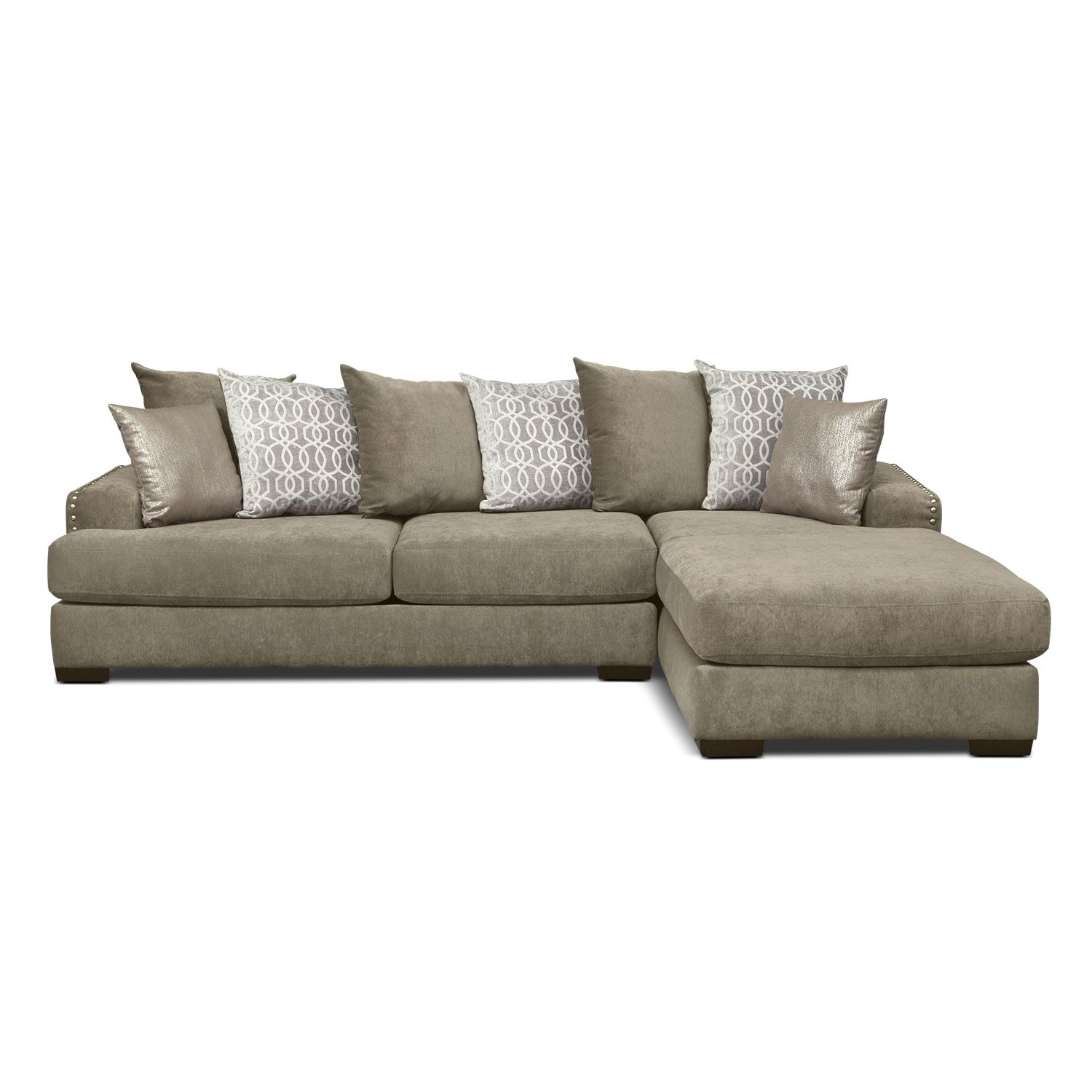 1000 tempo 2 pc sectional with right facing chaise value city furniture