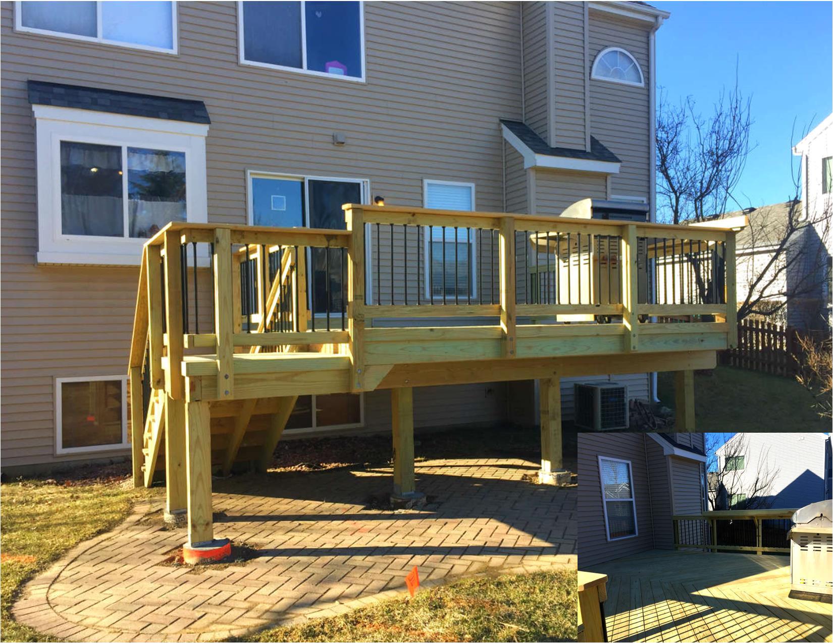 wood deck design in gurnee il thumbnail