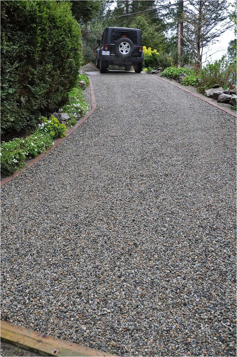the core system retains the gravel and ends rutting and sinking on a gravel driveway it is also weed free and allows for landscaping right up to the