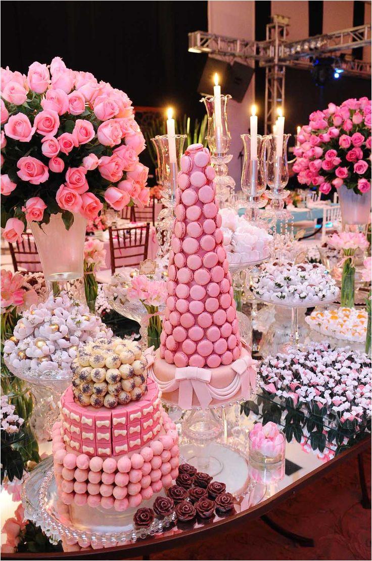 mesa de dulces fiesta nia a xv