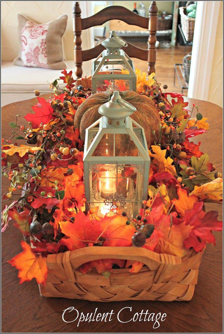 fall harvest basket centerpiece