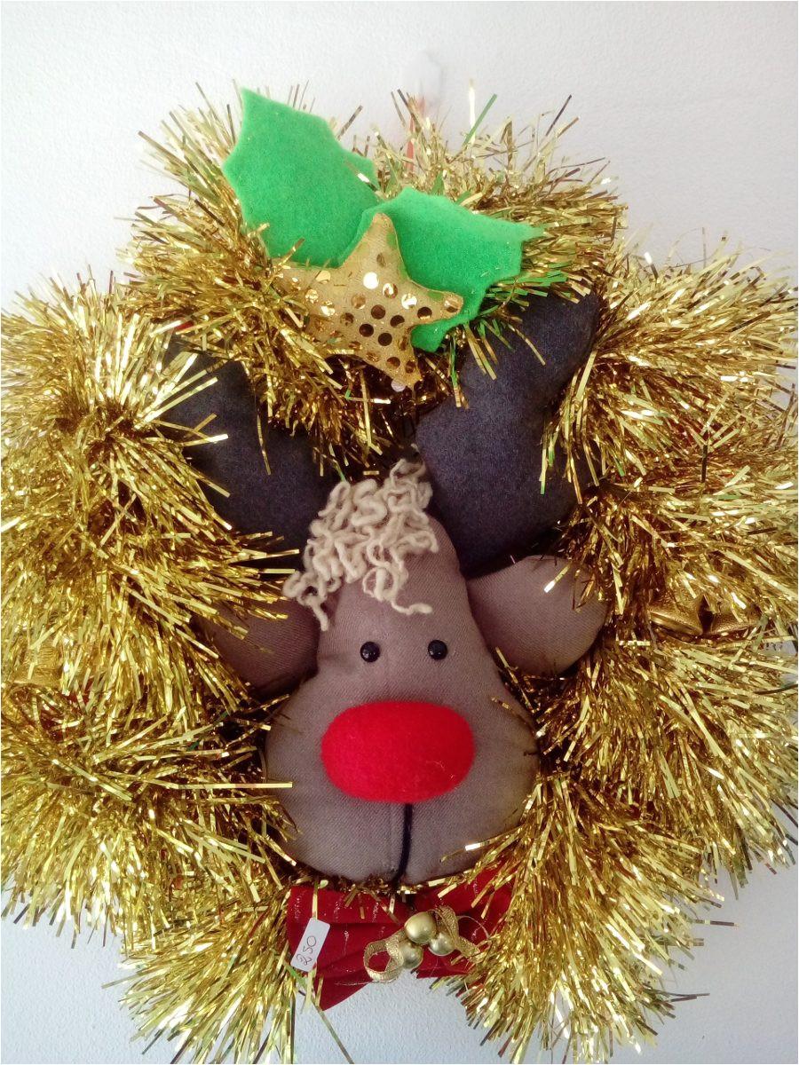 preprate para navidad y decora tu hogar con artculos artesanales lindos y nicos adorno aro para puerta hecho en tela y guirnalda brillante with adornos de