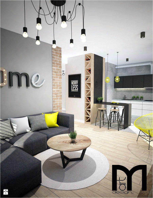 projekt mieszkania w warszawie maa y salon z kuchnia styl industrialny zdja cie od mart design architektura wna trz decoraciones del hogarideas de