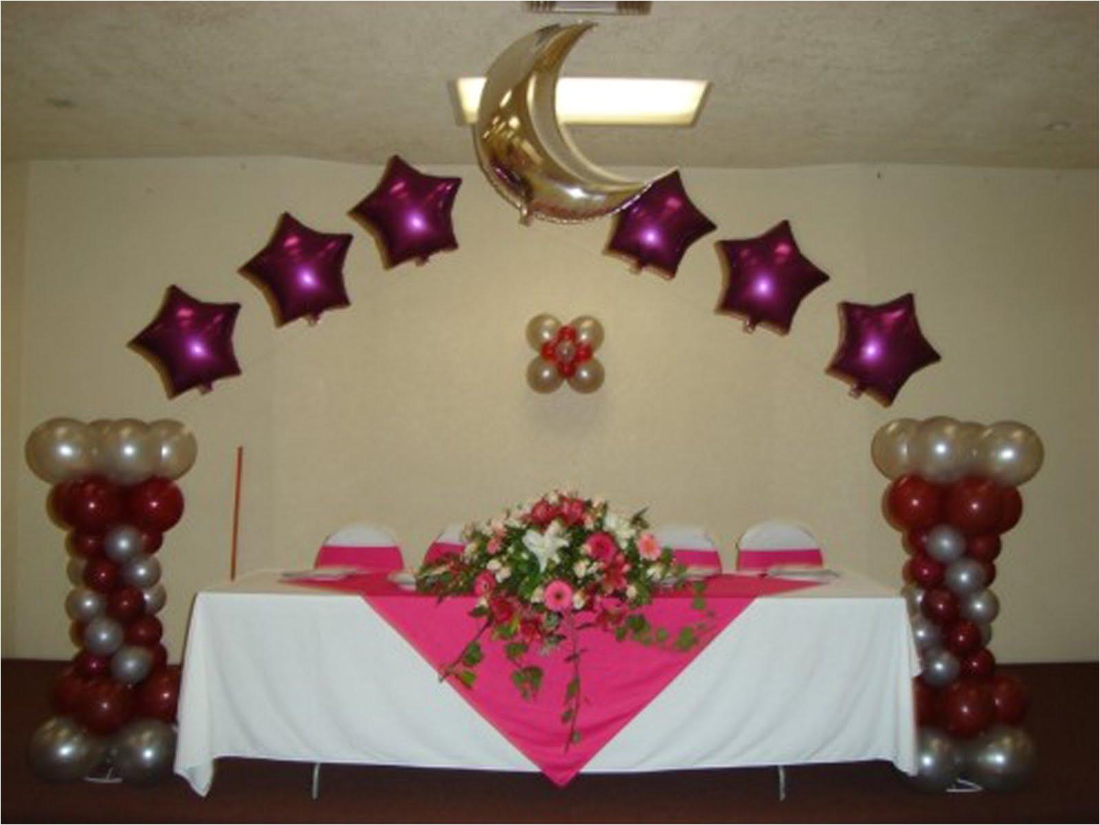 paquete decoracia n xv aa os con globos y telas