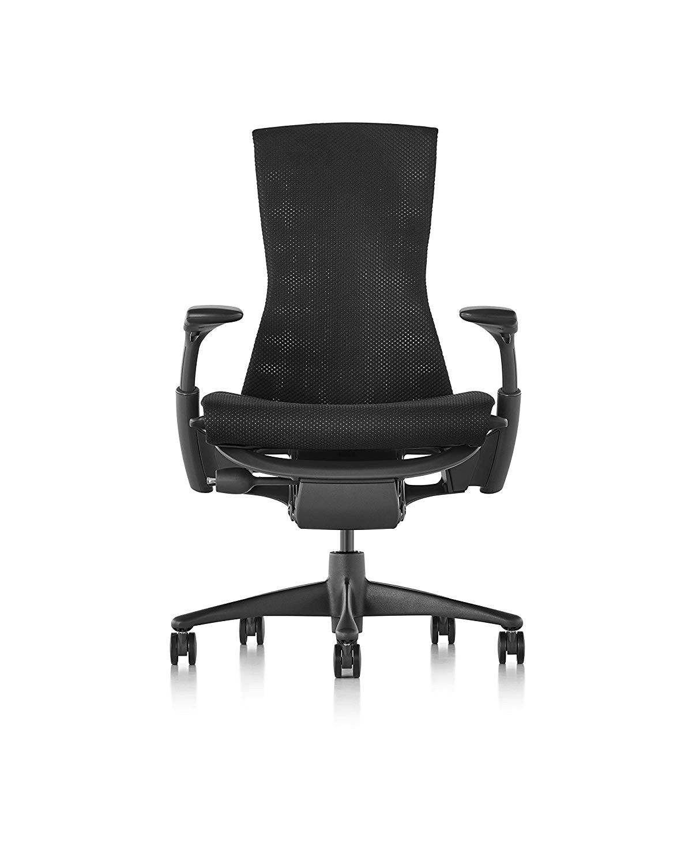 amazon com herman miller embody chair graphite frame black balance textile kitchen dining
