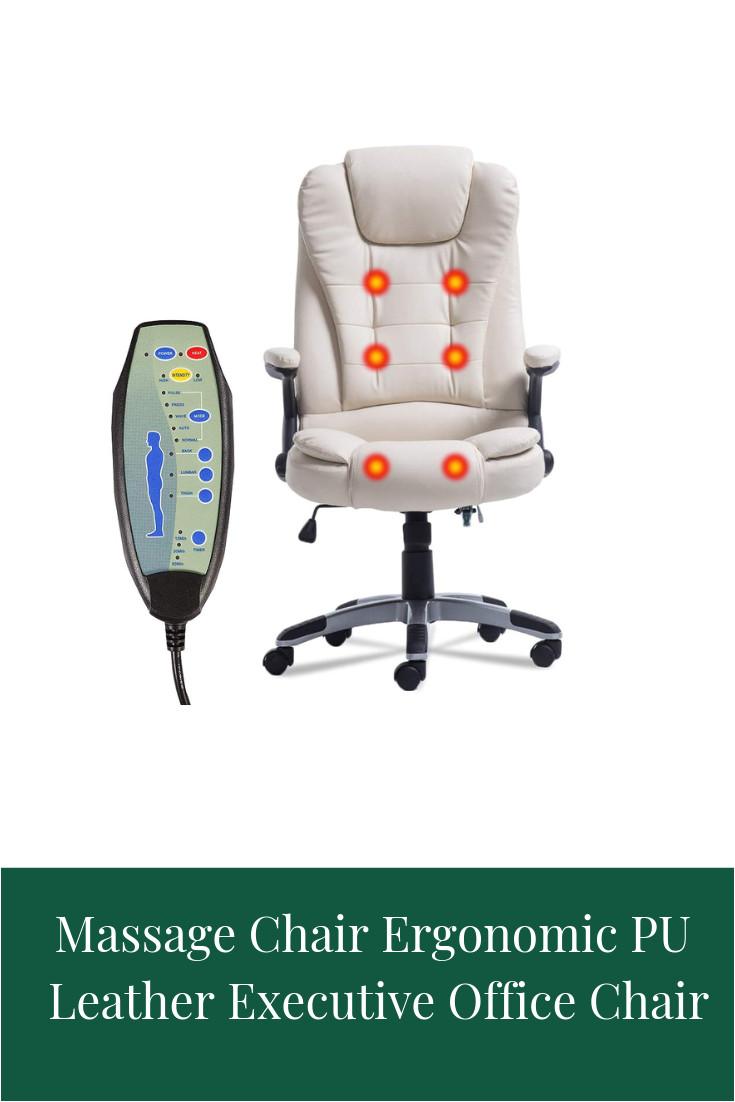 Desk Chair with Leg Rest D A Comforta Ergonomic Design with Massage to sooth Aching Muscles