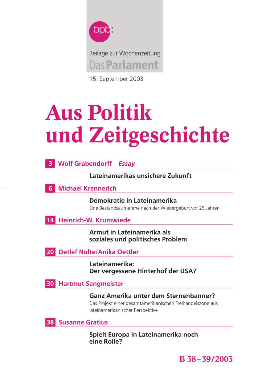 pdf die rolle der parlamente in den prasidialdemokratien lateinamerikas
