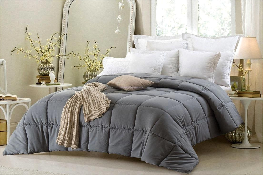 super oversized high quality down alternative comforter fits pillow top beds grey