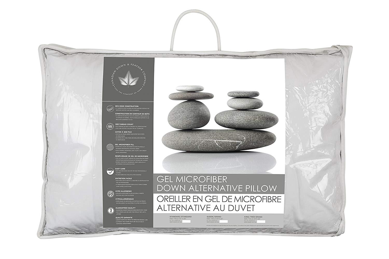 amazon com pair of medium support gel microfiber down alternative pillows home kitchen
