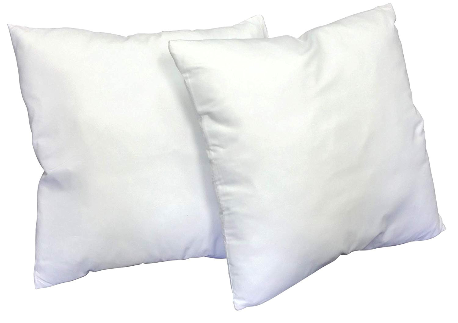 amazon com web linens inc 23 x23 set of 2 pillow inserts w pillow protectors 100 gsm microfiber cover exclusively by blowout bedding rn 142035