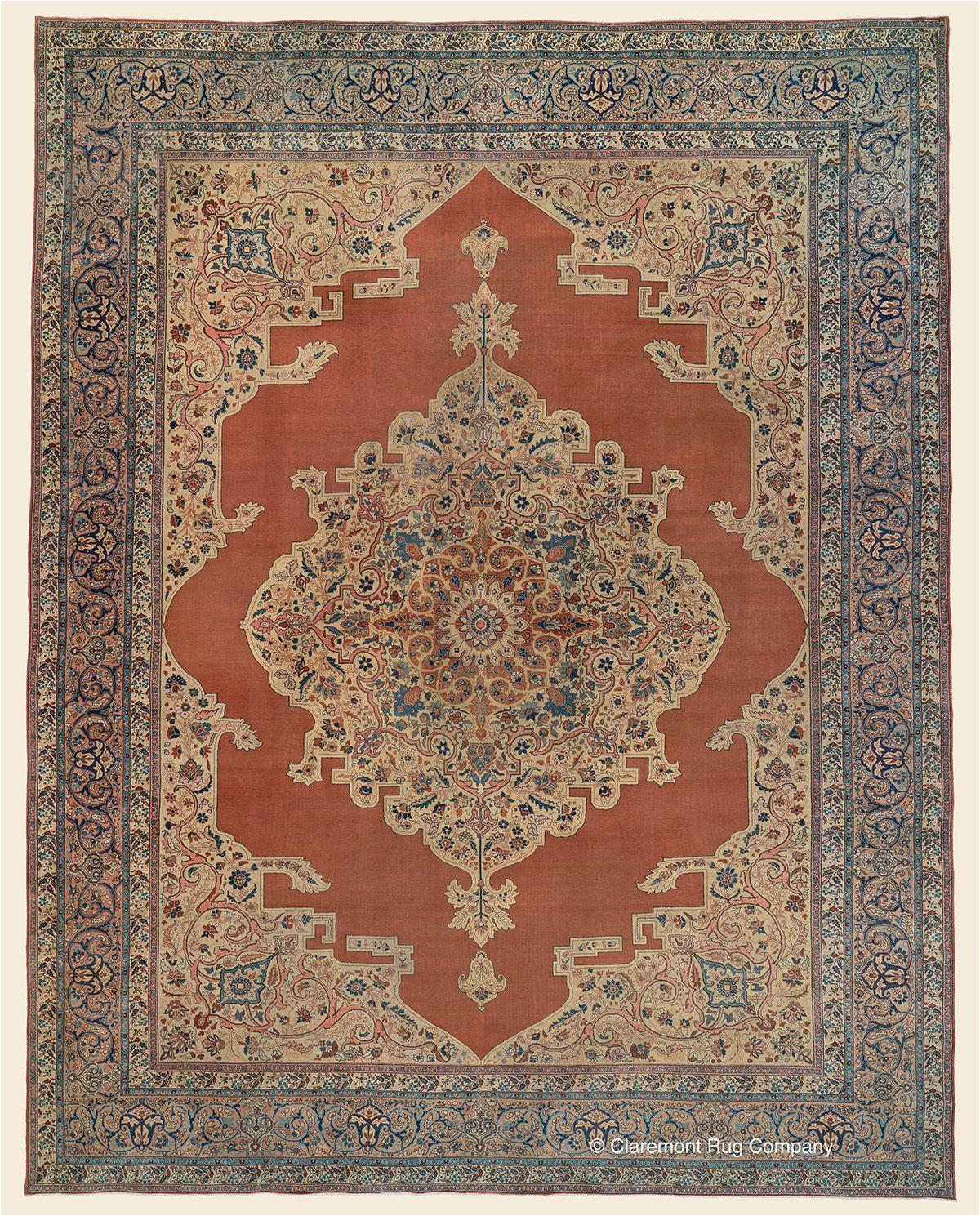 hadji jallili tabriz northwest persian antique rug 10 0 x 12 9