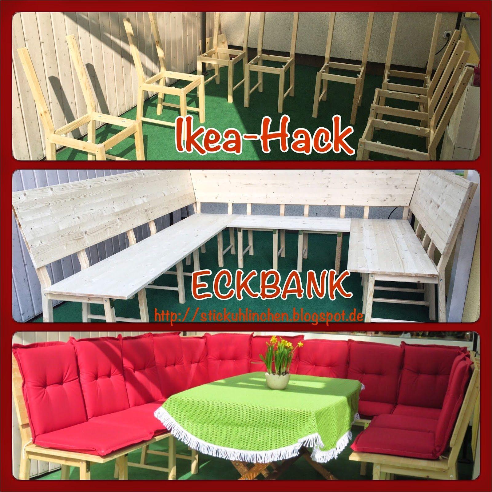diy ikea hack aus 8 stuhlen wird eine groa e eckbank bzw lounge stickuhlinchen ivar stuhl ikea chair