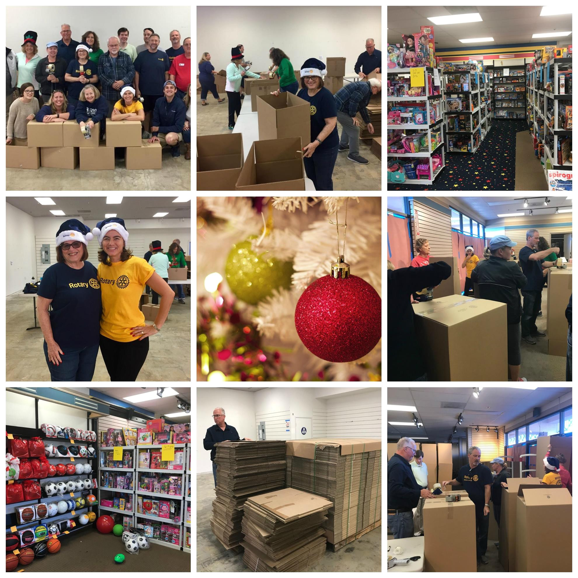 many also help sorting food and toys and boxing items for delivery including distributing poinsettias to senior shut ins in local mobile home parks