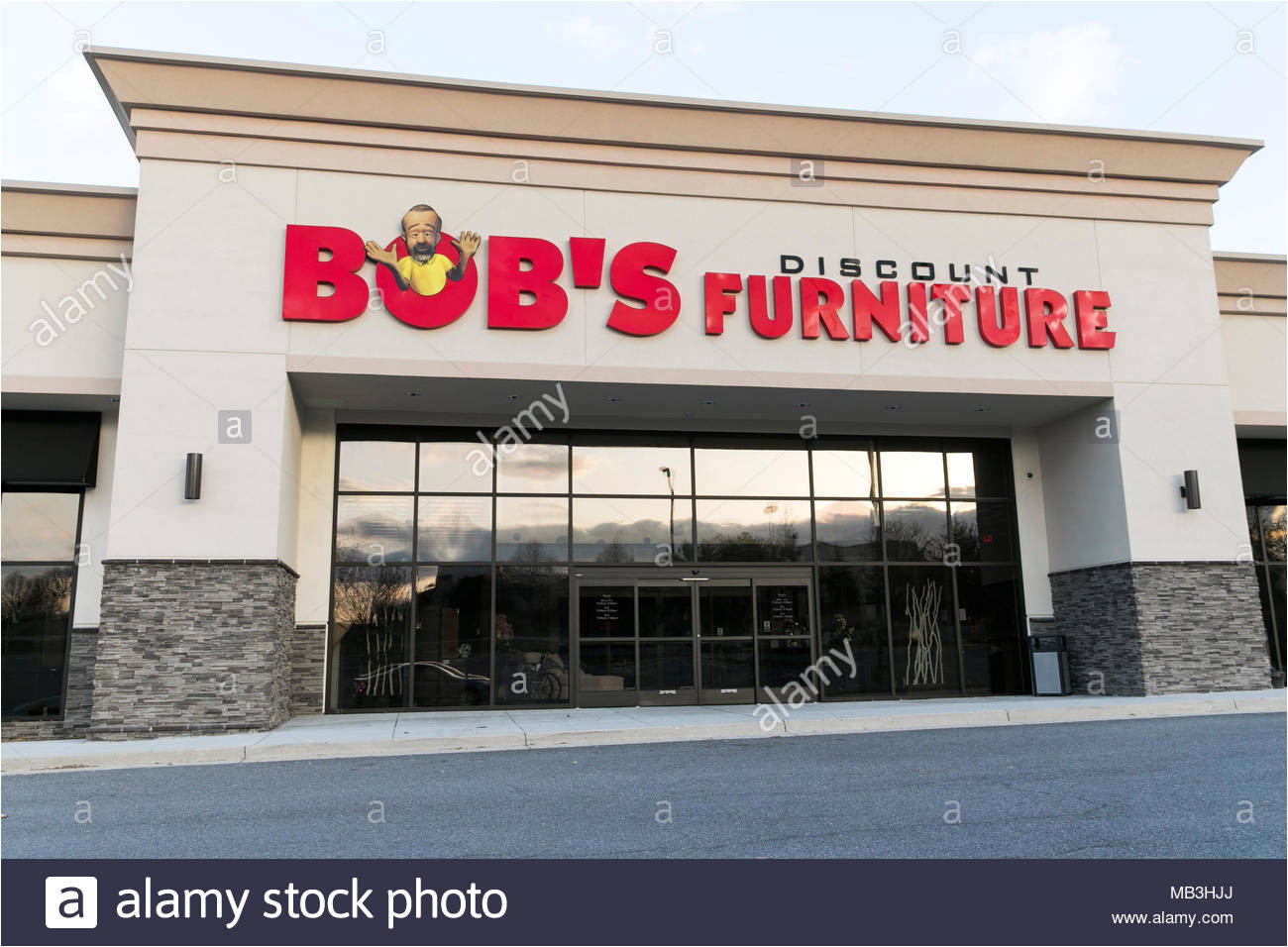 a bob s discount furniture logo seen on a retail store front in hagerstown maryland on