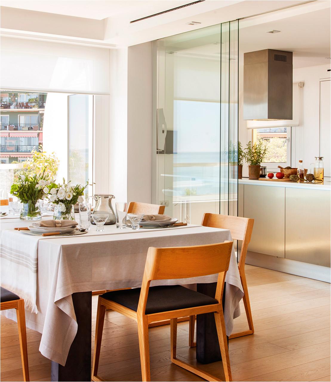 claves para abrir la cocina al comedor o el salon y ganar metros luz comunicado con with decoracin de interiores cocinas