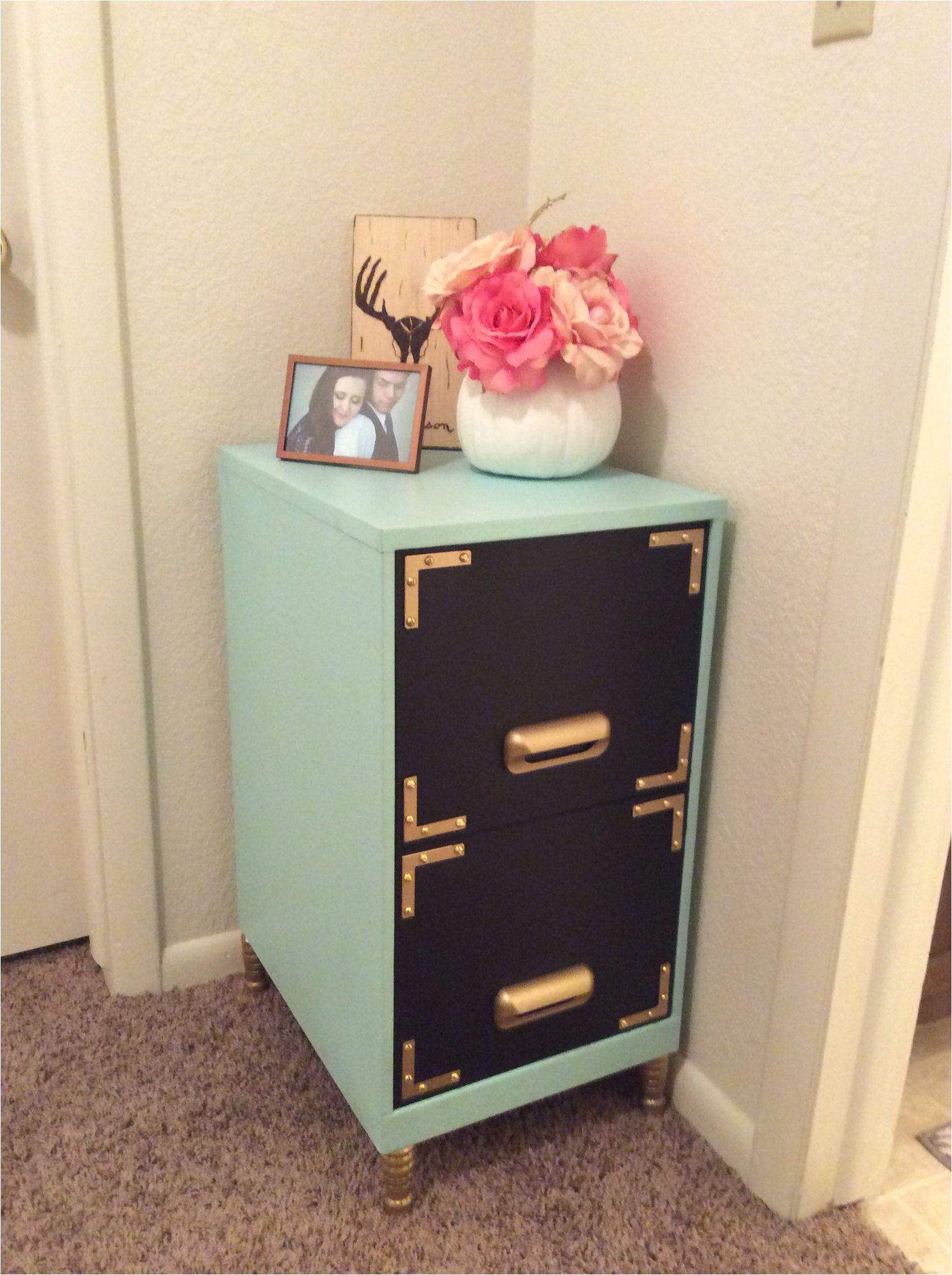 Diy 2 Drawer File Cabinet Desk Filing Cabinet Makeover Black Chalkboard Paint On the Drawers