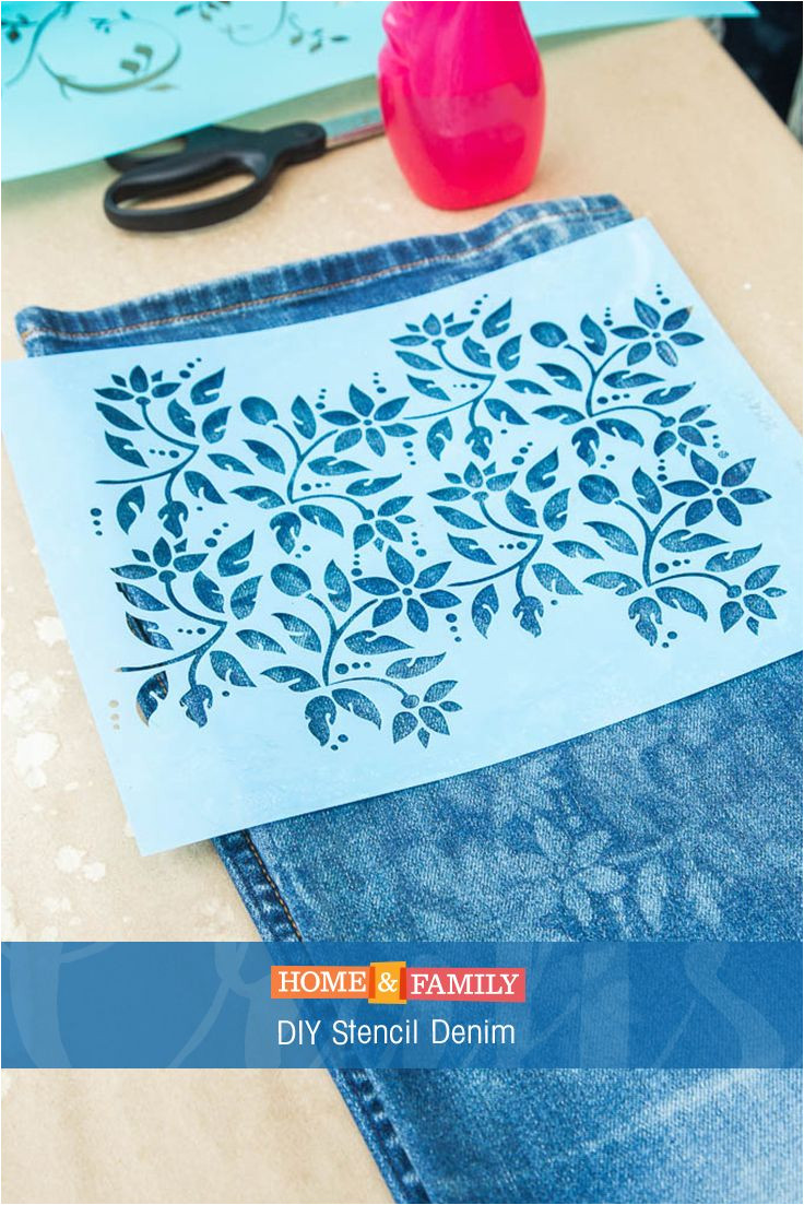 diy stencil denim update an old pair of jeans by using bleach to stencil the denim diy by orlyshani on home and family