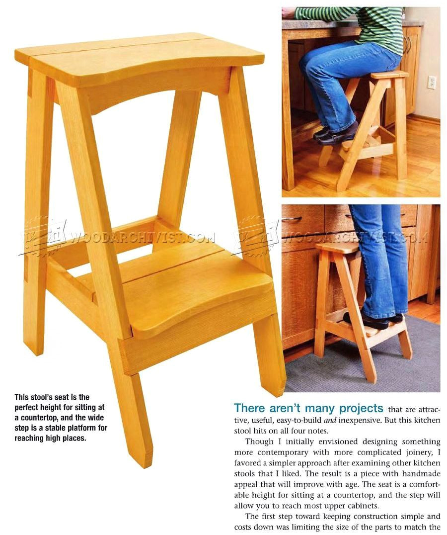 Diy toddler Step Stool with Rails Plans Kitchen Step Stool Plans Furniture Plans Homestuffs Pinterest