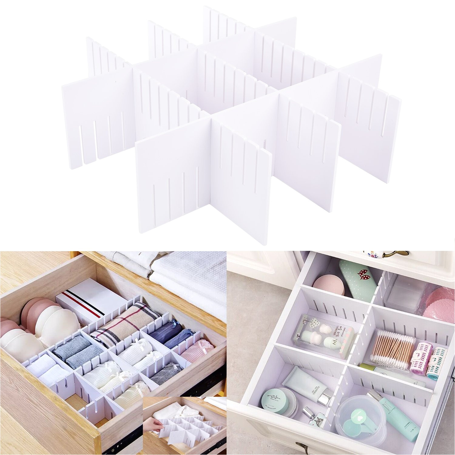 amazon com e bayker drawer organizer drawer dividers diy arbitrary splicing sub grid household storage spacer finishing shelves for home tidy closet