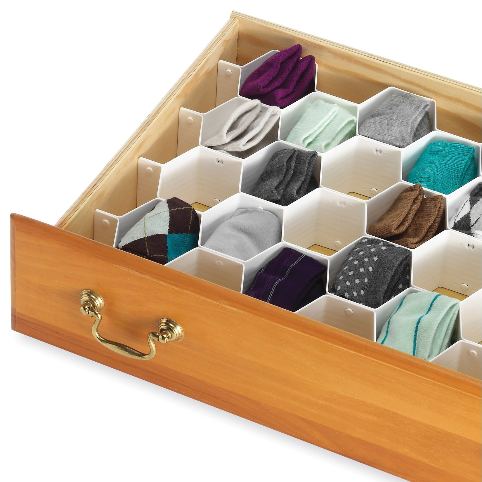 whitmor 6025 3928 honeycomb drawer organizer