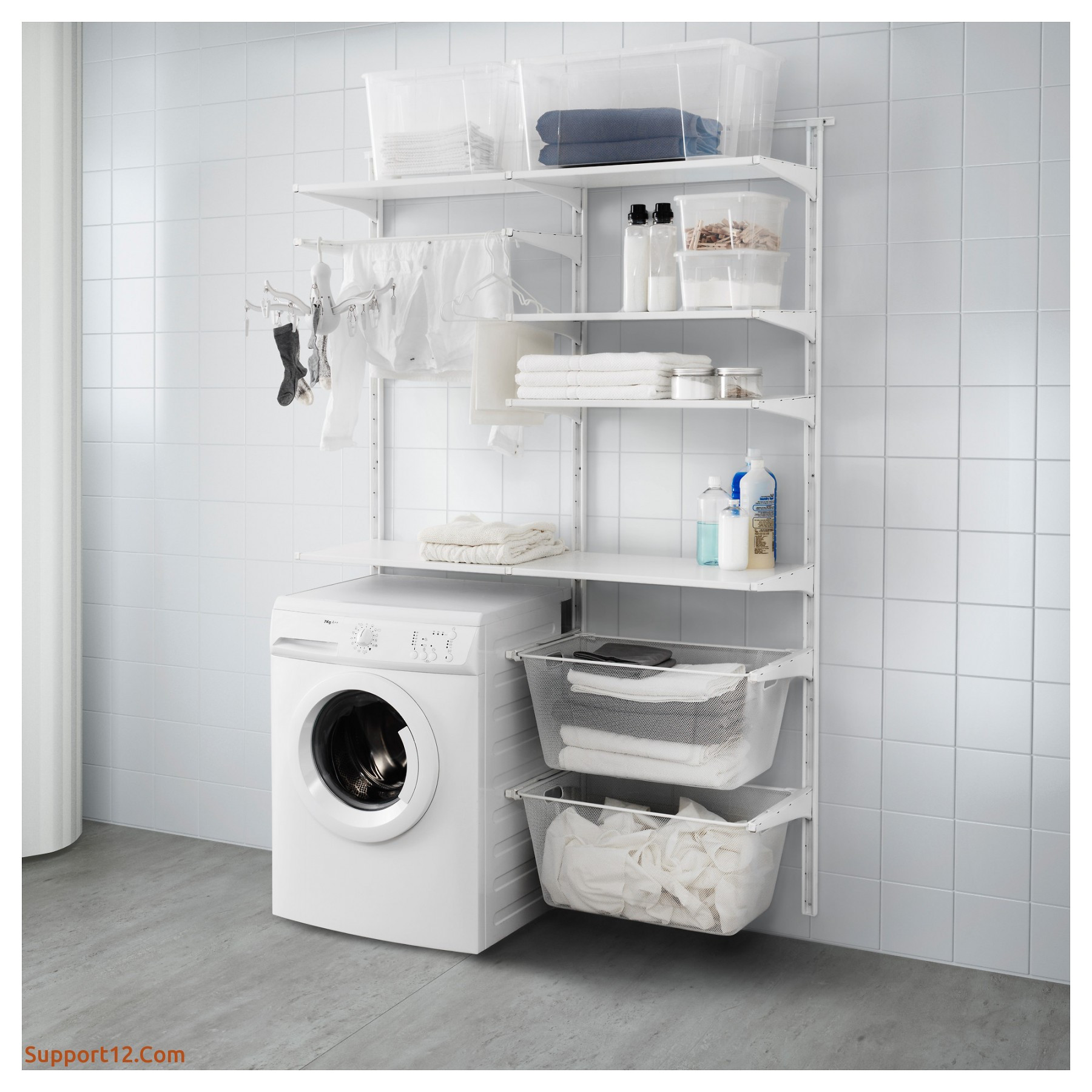 ikea algot wall upright shelves drying rack white