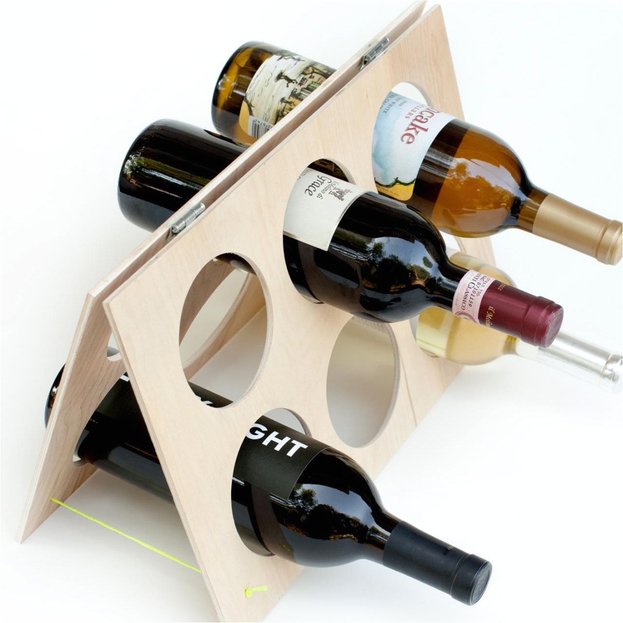 an a frame wine rack that holds 6 bottles of wine diy network